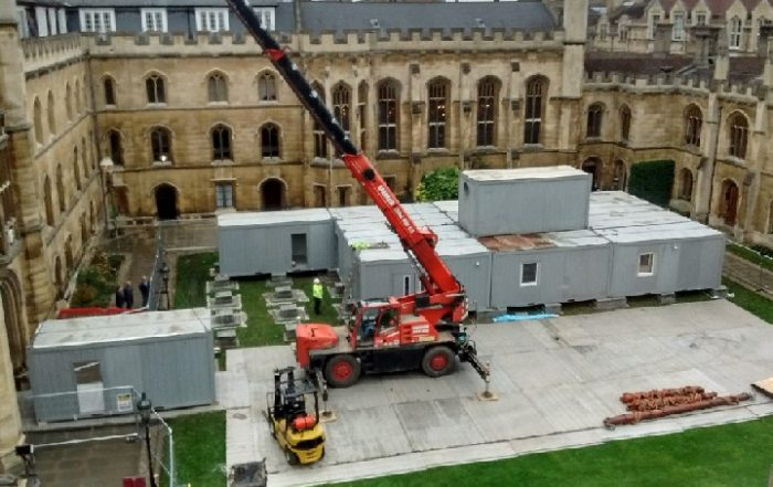 Temporary Kitchens for Cambridge University
