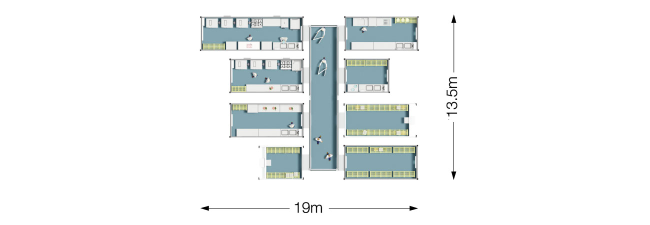 PP11 Temporary Kitchen Dimensions