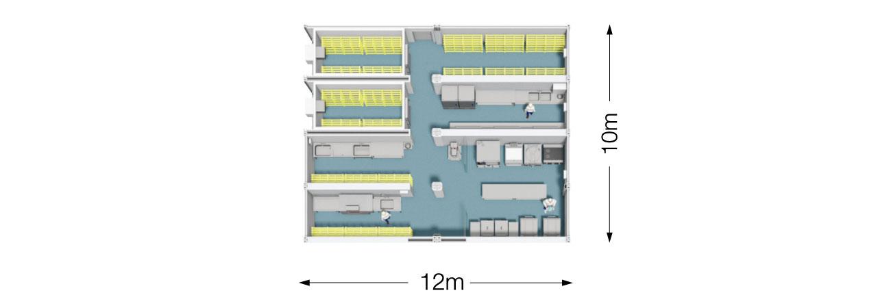 Remote Site Kitchen 800 Plan