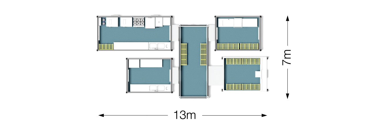 PP6 Temporary Kitchen Dimensions