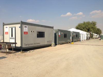 Dubai Rugby 7's Temporary Kitchen